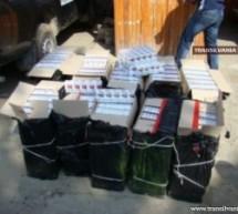 Țigări de contrabandă descoperite și confiscate la PTF Petea
