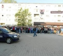 Jandarmii au continuat demonstraţiile la Carei şi Tăşnad