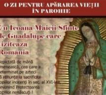 Icoana pelerină a Sfintei Fecioarei de Guadalupe va ajunge în  Satu Mare