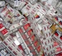 Peste 1.000 pachete țigări de contrabandă confiscate