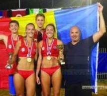 Sătmărencele Adriana Matei și Vaida Beata sunt campioane balcanice la volei pe plajă