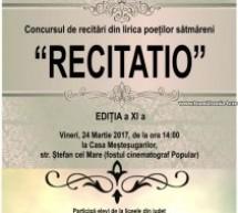 """Concursul de recitări """"Recitatio"""", ediția a XI-a"""