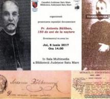 """Expoziție documentară """"Pr. Antoniu Băliban, 150 de ani de la naștere"""", la Biblioteca Județeană"""