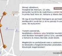 Lucrări de reabilitare pe strada Golescu. Circulație restricționată.