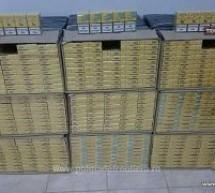 Peste 13.000 pachete țigări confiscate de polițiștii de frontieră la Halmeu și Tarna Mare