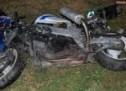 Un oșan s-a răsturnat cu o motocicletă furată din Anglia