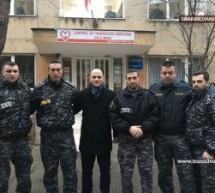 Polițiștii sătmăreni au donat sânge pentru colegul lor de la Suceava, Dan Ciprian Sfichi