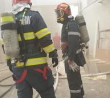 Incendiu la o hală de producție în localitatea Ardud