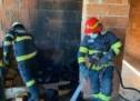 Incendiu în Satu Mare, la o casă în construcție