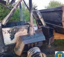 Incendiu la un utilaj agricol, în localitatea Târșolț