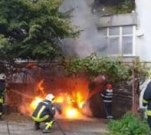 Incendiu la un autoturism în Satu Mare