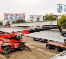 Lucrările la noul pod peste Someș din Satu Mare înaintează