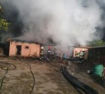 Incendiu la o șură în localitatea Pomi