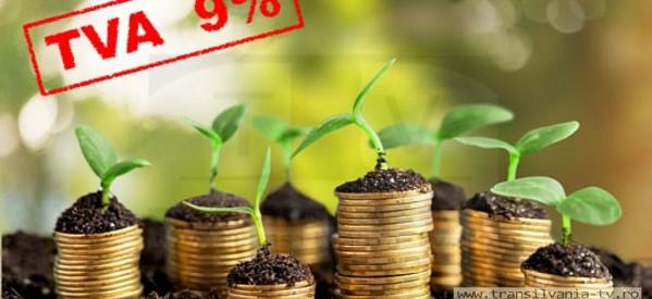 TVA de 9% pentru serviciile din sectorul agricol