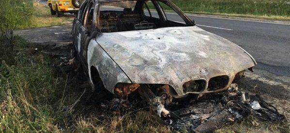 BMW-ul unui diasporean a ars la câțiva metri de intrarea în România