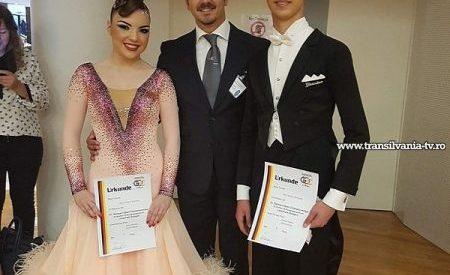 Pereche sătmăreană în semifinalele concursului de dans sportiv din Stuttgart