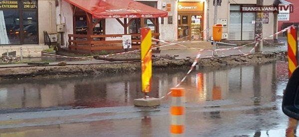 În Satu Mare a apărut un nou lac, Intersecția Burdea.