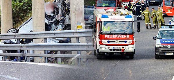 Accident groaznic pe autostradă în Austria