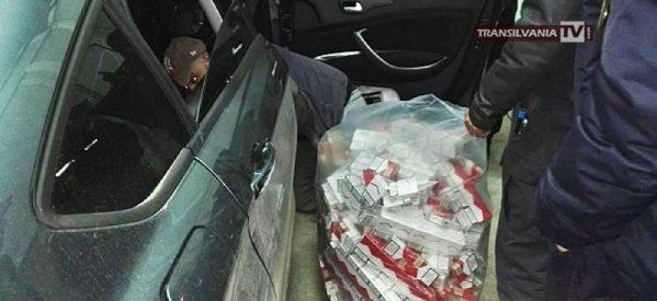 Percheziții la contrabandiștii de țigări. Mii de țigări au fost confiscate.