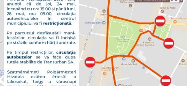 Se închide mai multe zile circulația în zona centrala