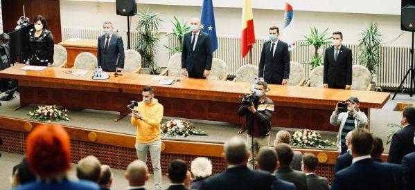 Azi s-a desfășurat ceremonia de constituire a Consiliului Județean Satu Mare