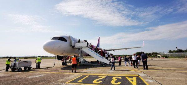 Primul zbor direct Roma-Satu Mare